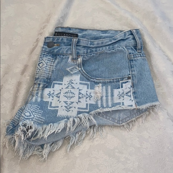 Billabong Laneway Distressed Cutoff Denim shorts